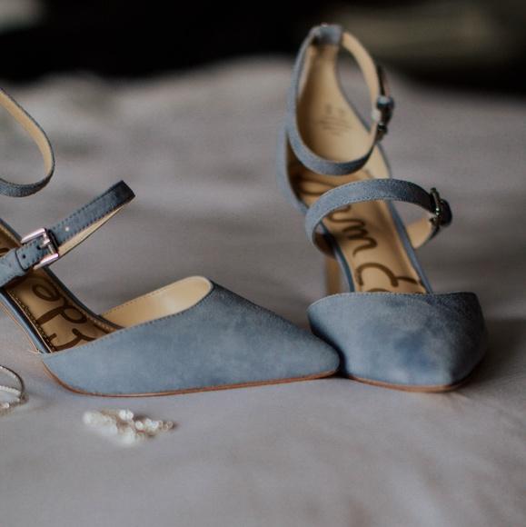 2d866b855 Sam Edelman Dusty Blue Heels ♡Wedding♡. M 5b0c3faf9a94554543d22ae3